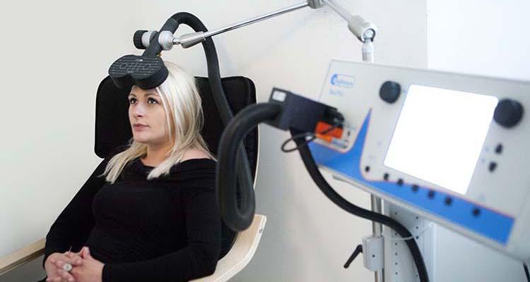 ซึมเศร้า Transcranial Magnetic Stimulation (TMS)